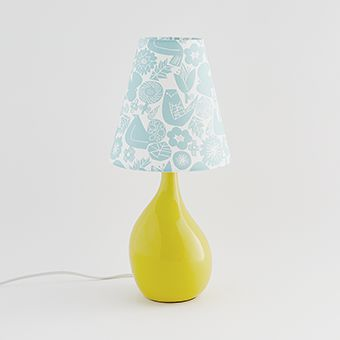 AIL VASE LAMP Yellow × Skyblue