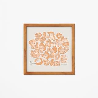 IDÉE×BIRDS' WORDS graphic flower  Ivory × Orange