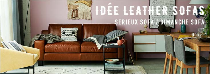 IDÉE LEATHER SOFAS