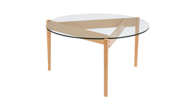 TRIANGOLO GLASS TABLE