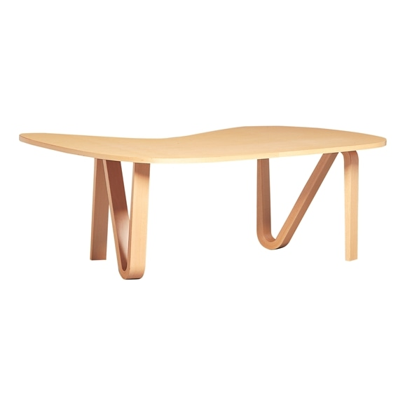 【写真】【受注生産品】CURVED PLYWOOD TABLE Natural