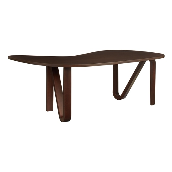 【写真】【受注生産品】CURVED PLYWOOD TABLE Dark brown