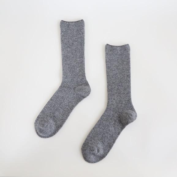 【写真】IDEE Cashmere Socks L グレー