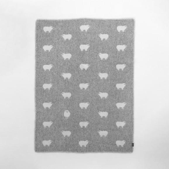 【写真】【IDEE別注】LINCASA ウールブランケット 90×130 Sheep グレー