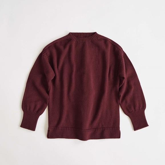 【写真】H& by POOL Wool Sweater L Burgundy 2021AW