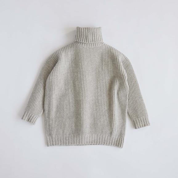 【写真】H& by POOL Wool Turtle-neck Sweater Gray 2021AW