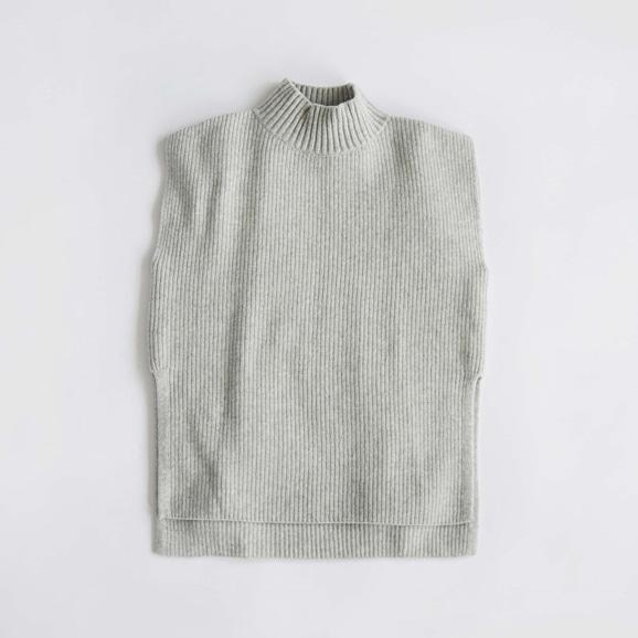 【写真】H& by POOL Wool Sweater Vest Gray 2021AW