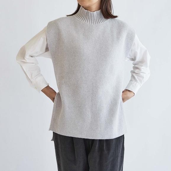 【写真】H& by POOL Wool Sweater Vest Winter Gray 2021AW