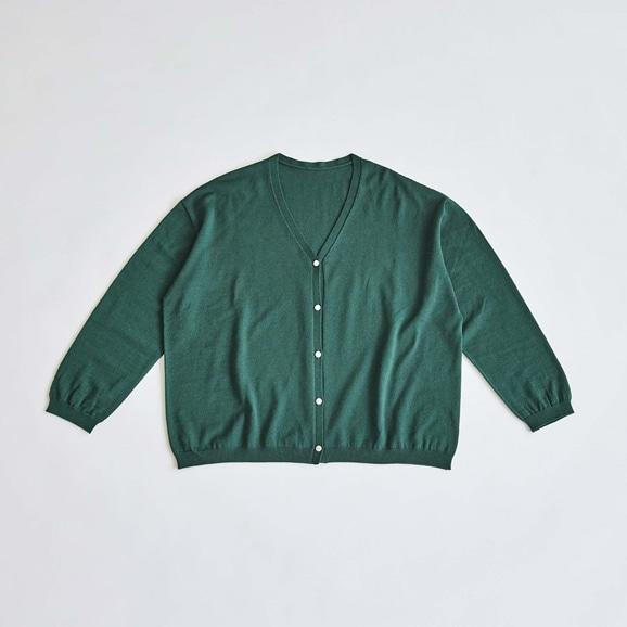 【写真】H& by POOL Wool Cardigan Dark Green 2021AW