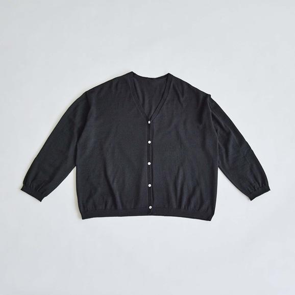 【写真】H& by POOL Wool Cardigan Black 2021AW