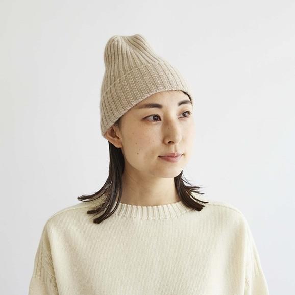 【写真】H& by POOL Cashmere Knitted Hat Beige 2021AW