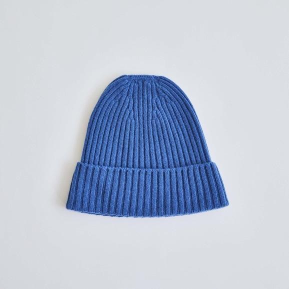 【写真】H& by POOL Cashmere Knitted Hat Royal Blue 2021AW