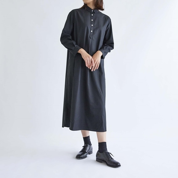【写真】H& by POOL One-Piece Shirt Windowpane Black 2021AW