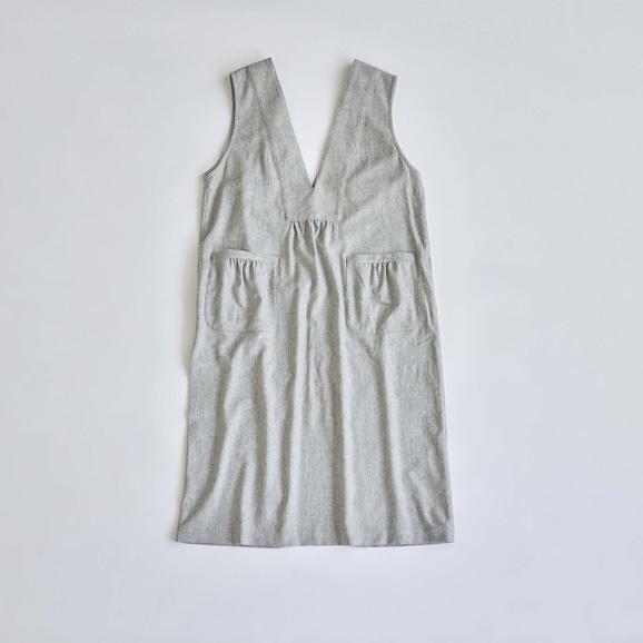 【写真】H& by POOL Apron Dress Light Gray 2021AW