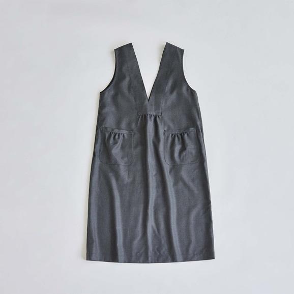 【写真】H& by POOL Apron Dress Charcoal 2021AW