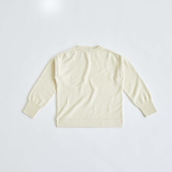 【写真】H& by POOL Wool Sweater M Ivory 2021AW