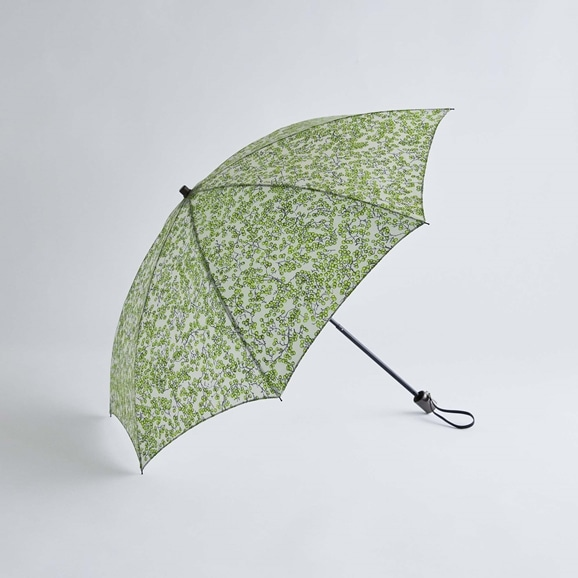 【写真】【先行販売】イイダ傘店 晴雨兼用傘 コショウ グレー 折50cm