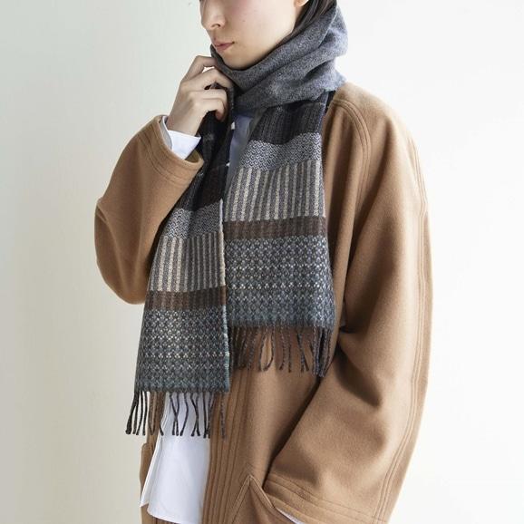 【写真】WALLACE&SEWELL スカーフ Kyoto Grey
