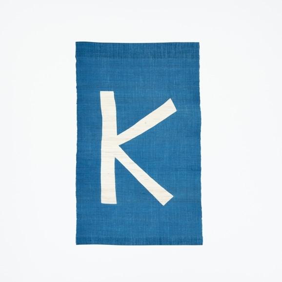 【写真】【受注生産品】POWER OF INDIGO 暖簾「K」