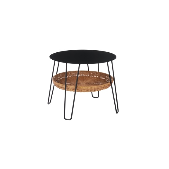 【写真】【新サイズ】WALLABY LOW TABLE ROUND Black