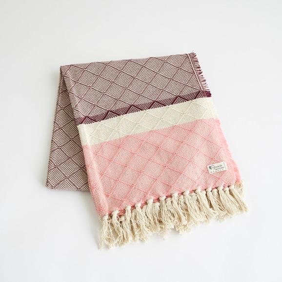 【写真】シ・コラサォン AZULEJOブランケット ピンク
