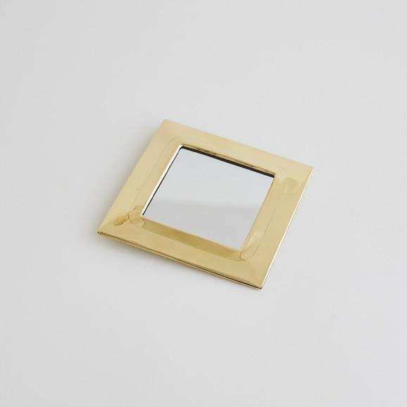 【写真】【モロッコ買付品】真鍮ミラー スクエア S
