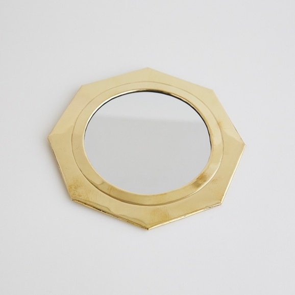 【写真】【モロッコ買付品】真鍮ミラー 八角形 L