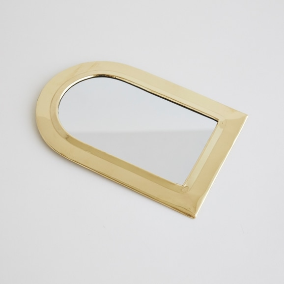 【写真】【モロッコ買付品】真鍮ミラー ドーム L