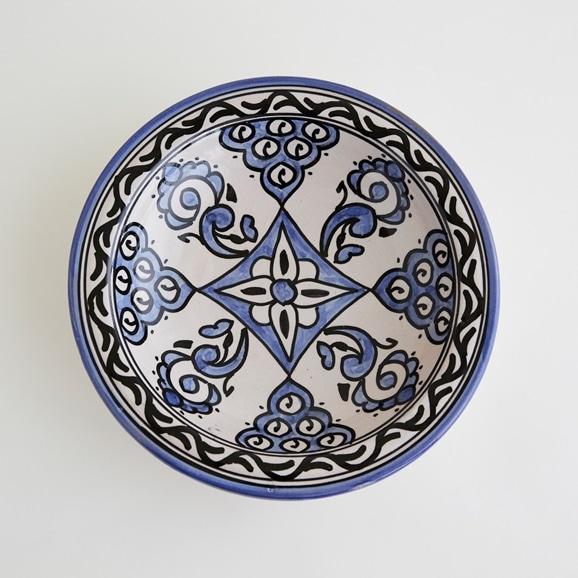 【写真】【モロッコ買付品】飾り皿 ブルー