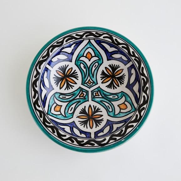 【写真】【モロッコ買付品】飾り皿 グリーン