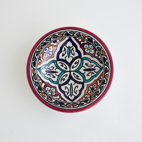【写真】【モロッコ買付品】飾り皿 レッド