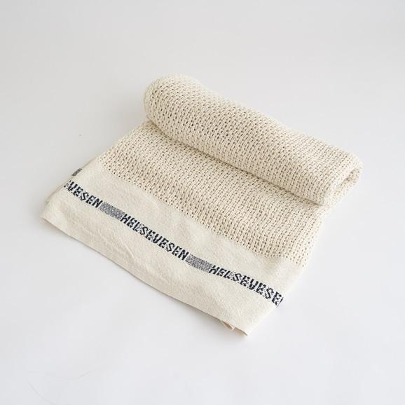 【写真】Barker Textile コットンブランケット HELSETEPPER ナチュラル