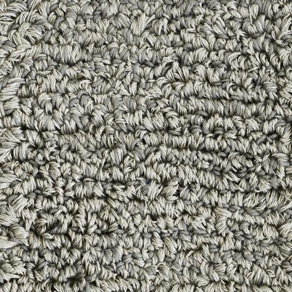 【写真】ラグ Fioriリネン・コットン10 円形120cm ライトグレー