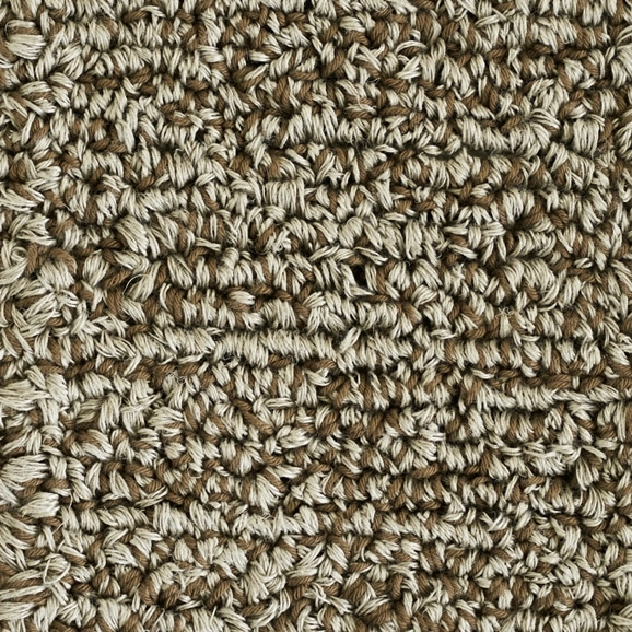 【写真】ラグ Fioriリネン・コットン10 長方形150×200cm ブラウン