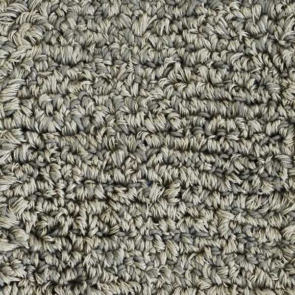 【写真】ラグ Fioriリネン・コットン10 長方形150×200cm ライトグレー