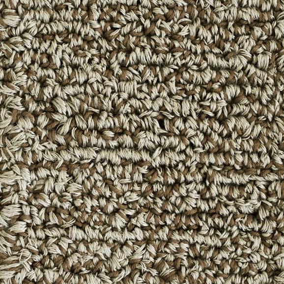 【写真】ラグ Fioriリネン・コットン10 正方形200×200cm ブラウン