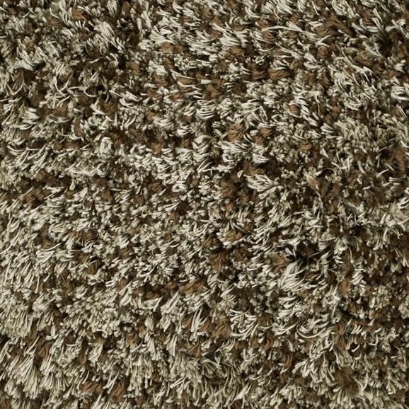 【写真】ラグ Fioriリネン・コットン15 正方形200×200cm ブラウン