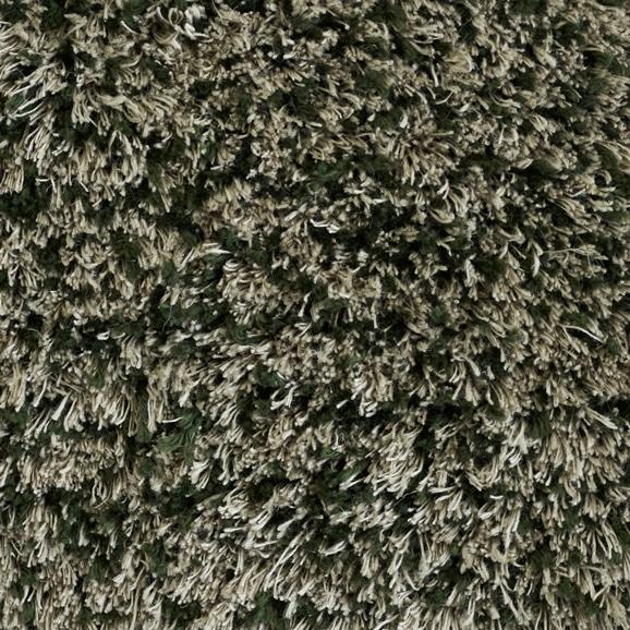 【写真】ラグ Fioriリネン・コットン15 正方形200×200cm グリーン