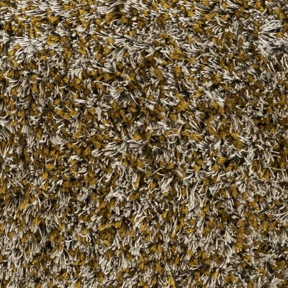 【写真】ラグ Fioriリネン・コットン15 正方形200×200cm マスタード