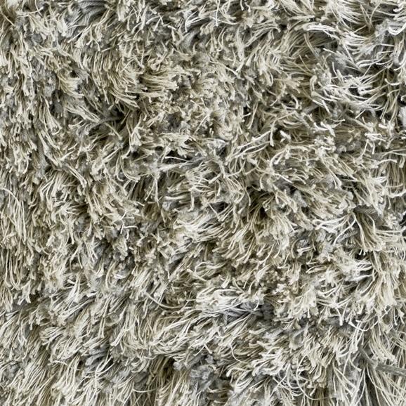 【写真】ラグ Fioriリネン・コットン40 長方形150×200cm ライトグレー