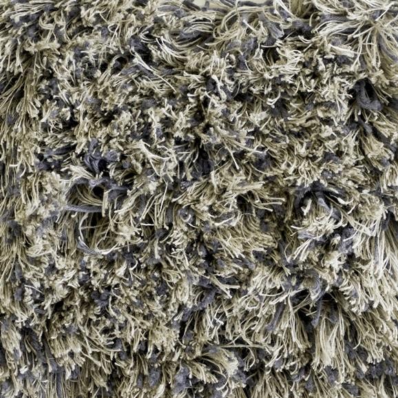 【写真】ラグ Fioriリネン・コットン40 円形120cm グレー