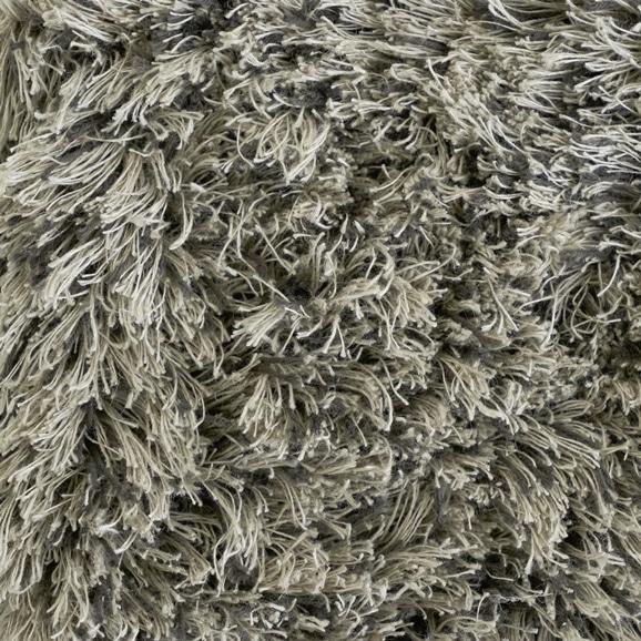 【写真】ラグ Fioriリネン・コットン40 円形120cm ブラック