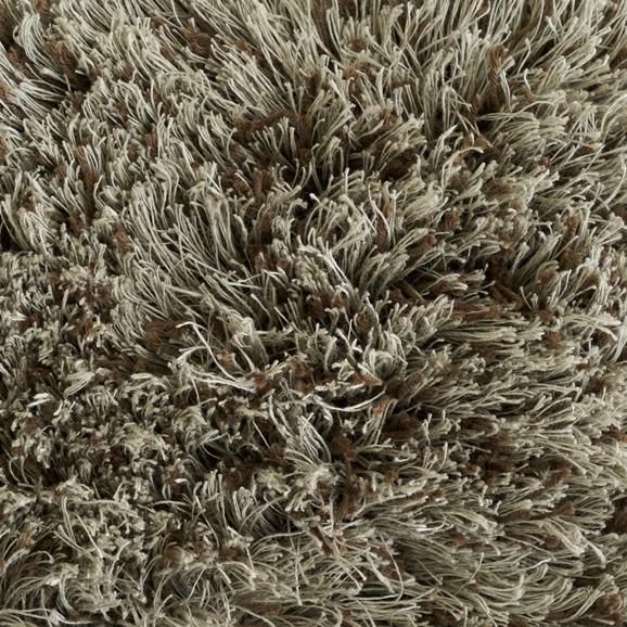 【写真】ラグ Fioriリネン・コットン40 円形180cm ブラウン