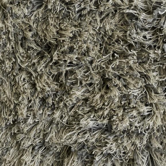 【写真】ラグ Fioriリネン・コットン40 正方形200×200cm ライトグレー