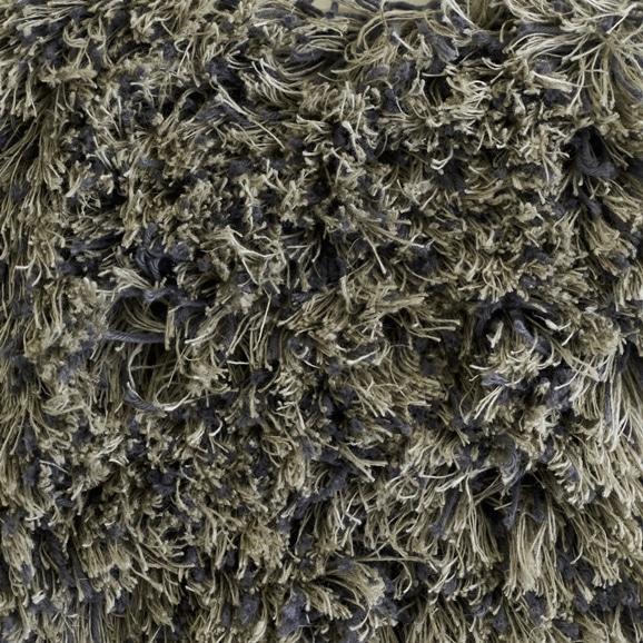 【写真】ラグ Fioriリネン・コットン40 正方形200×200cm グレー