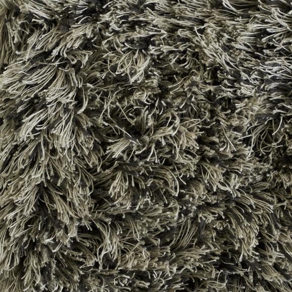 【写真】ラグ Fioriリネン・コットン40 正方形200×200cm ブラック