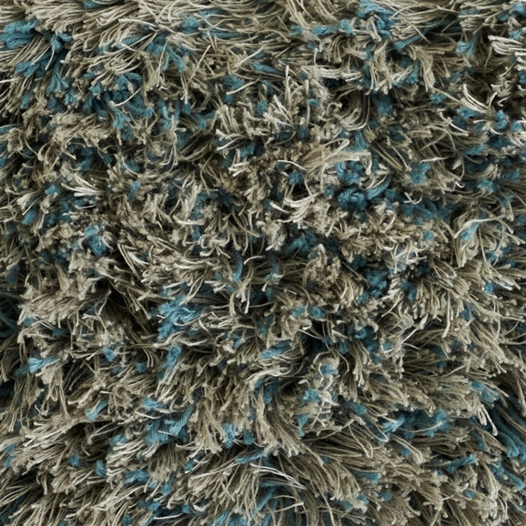 【写真】ラグ Fioriリネン・コットン40 正方形200×200cm ライトブルー