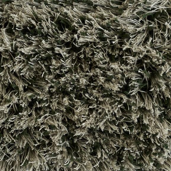 【写真】ラグ Fioriリネン・コットン40 正方形200×200cm グリーン