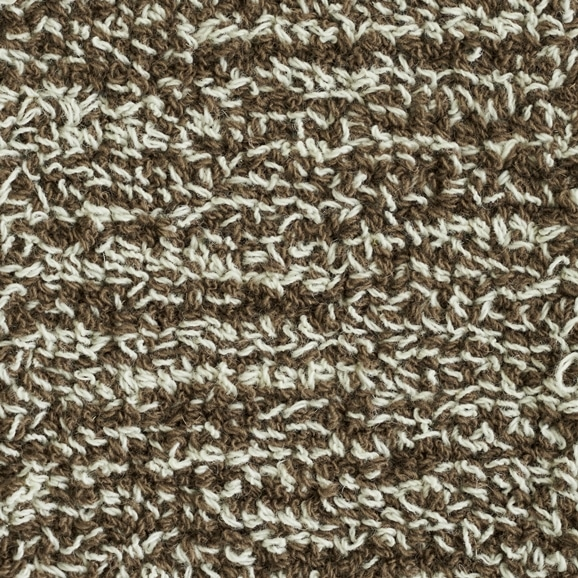【写真】ラグ Fioriウールツイスト10 正方形200×200cm ブラウン