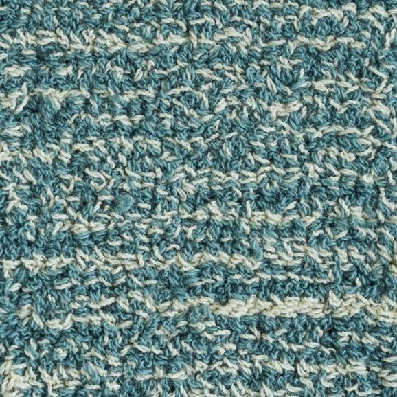 【写真】ラグ Fioriウールツイスト10 正方形200×200cm ライトブルー